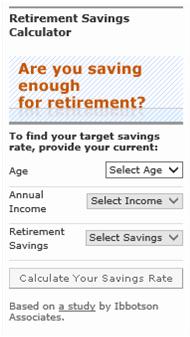 60-Second Retirement Savings and Income Checkup