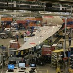 The final assembly of the 787 Dreamliner passenger jet is pictured at Boeing's South Carolina facility in North Charleston